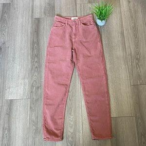 Free People High Rise Casual Corduroy Pants Sz 26